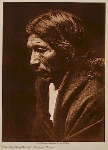 "Edward S. Curtis (1868-1952) ""Dew Moving"" Photogravure"