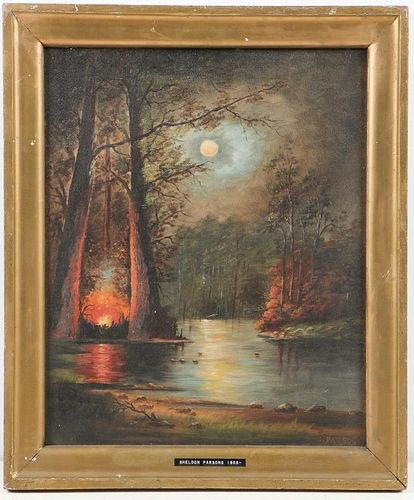 S. Parsons (American) Evening Campfire