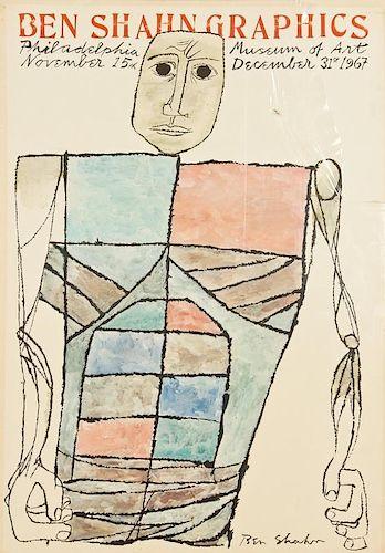 Ben Shahn (1898-1969) Vintage Exhibition Poster