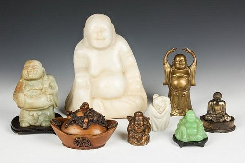 Group of 8 Buddha Sculptures
