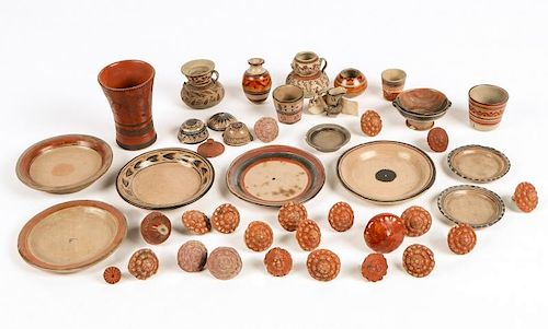 Large Group of Mexican Earthenware Artifacts