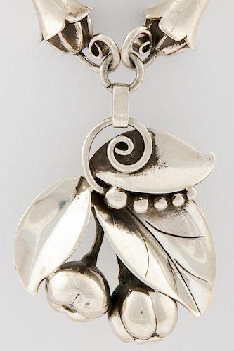 Lapaglia Silver Necklace with Drop Pendant