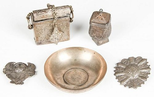 5 Middle Eastern Silver Artifacts