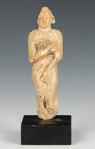 Ancient Near East Carved Bone Astarte Figure