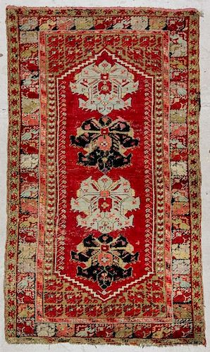 Antique Central Anatolian Village Rug: 3'6'' x 6'