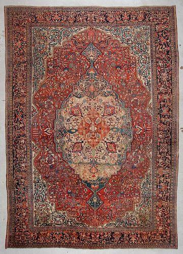 Antique Ferahan Sarouk Rug: 10'5'' x 14'8'' (318 x 447 cm)