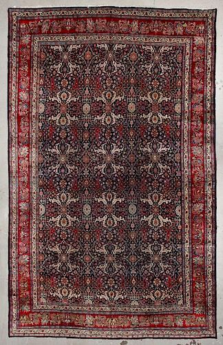 Antique Bidjar Rug: 11'3'' x 17'10'' (343 x 544 cm)
