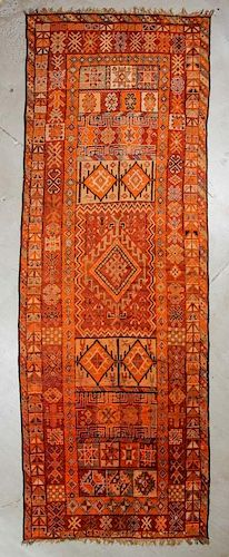 Semi-Antique Moroccan Rug: 5'6'' x 16'8'', 168 x 508 cm