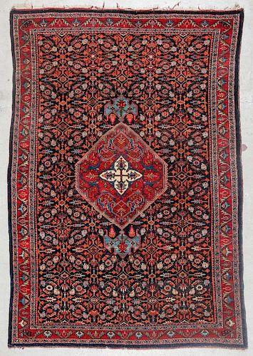 Antique Bidjar Rug: 4'8'' x 8'10'' (142 x 269 cm)
