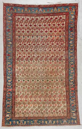 Antique Malayer Rug: 5'5'' x 8'5'' (165 x 257 cm)