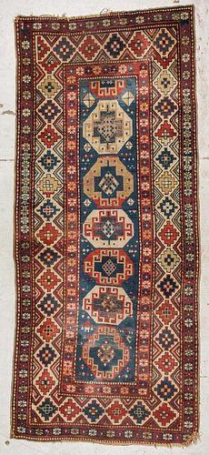 Antique Kazak Rug: 3'11'' x 9'1'', 119 x 279 cm