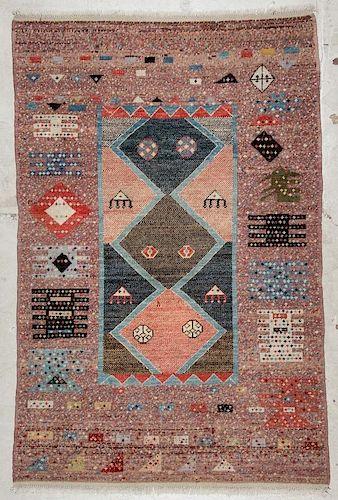 Vintage Turkish Village Rug: 7'8'' x 5', 234 x 152 cm