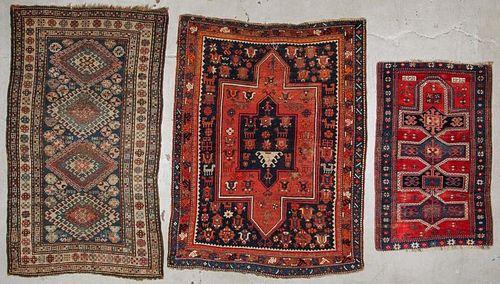 3 Antique Kazak Rugs