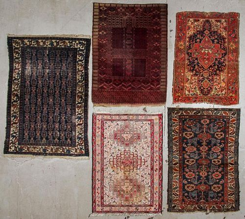 5 Antique/Old Persian and Turkmen Rugs