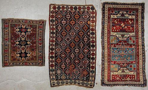 3 Antique Caucasian Rugs