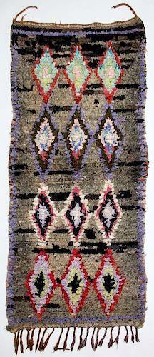 """Vintage Moroccan Rug: 1' x 5'7"""" (30 x 170 cm)"""