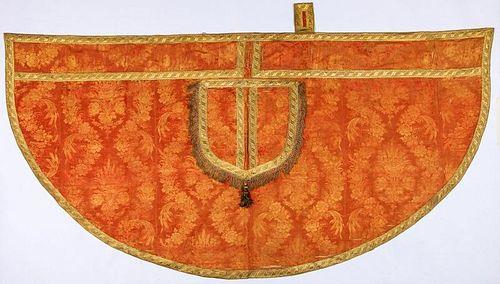 Antique Continental Ecclesiastical Silk Brocade