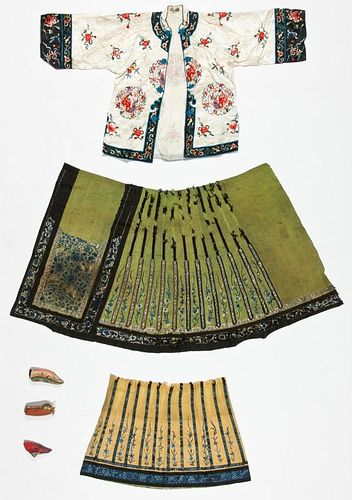 Antique Chinese Embroidered Textiles and Fragments