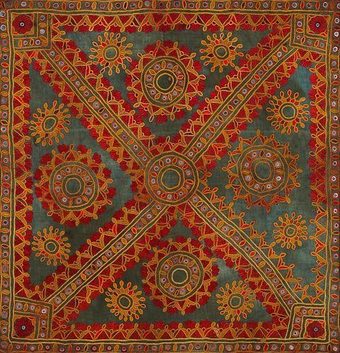 Framed Indian Tribal Textile