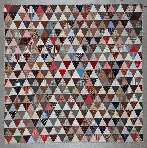 Early American Handmade Patchwork Quilt