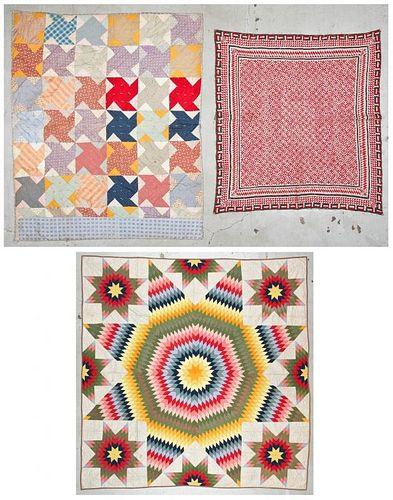 3 Stunning Antique Patchwork Quilts