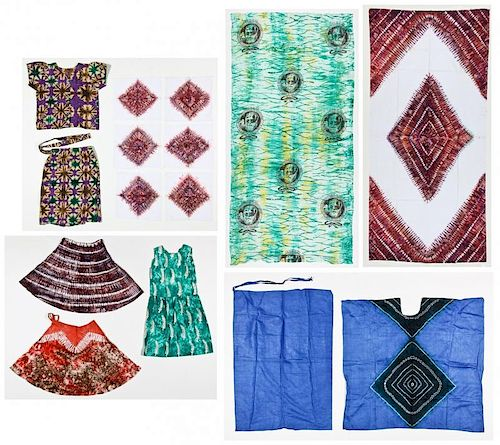 Vintage African Tie Dye Textiles