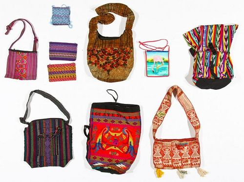 Guatemalan and Mexican Morrales Shoulder Bags