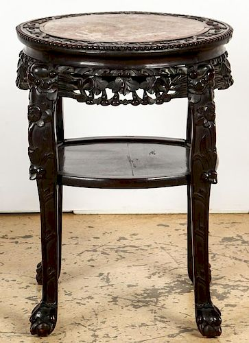 Carved Chinese Stand
