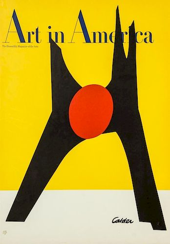 Framed Calder Art in America Magazine Advertising Poster