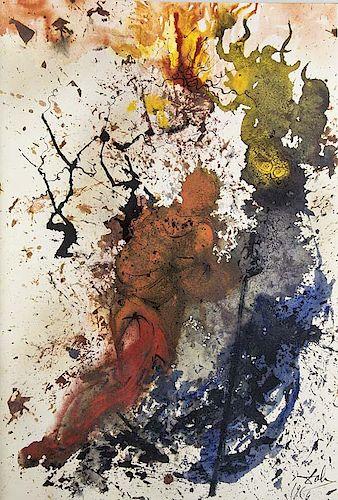 Dalí, Salvador Biblia Sacra. Vulgatae editionais. Mit 105 Lithographien nach Gouachen von Salvador Dáli. 5 Bde.  Geglaettet