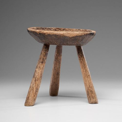 Prime Wood Milking Stool By Cowans Auctions 690276 Bidsquare Gamerscity Chair Design For Home Gamerscityorg