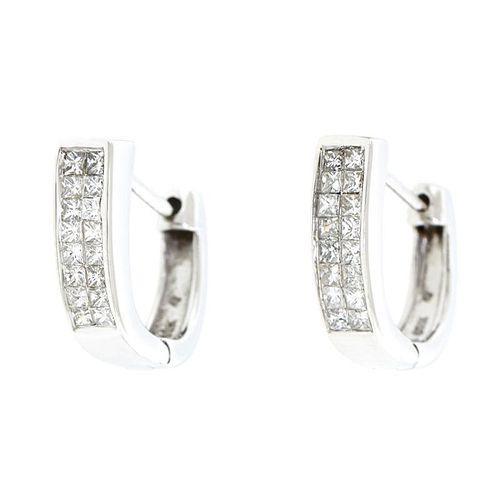 Diamond Huggie Earrings, 14k