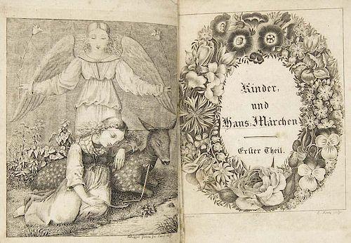Grimm, BruederKinder- und Haus-Maerchen. Gesammelt durch die Brueder Grimm. 3 Baende. Zweite verm. u. verbess. Auflage. Mit