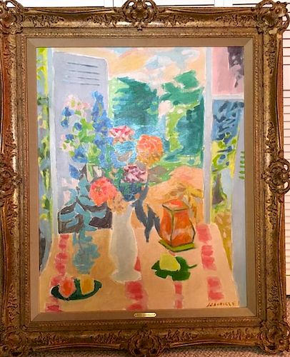 Jules Cavailles (1901-1977) LARGE Painting French Impressionist Modern