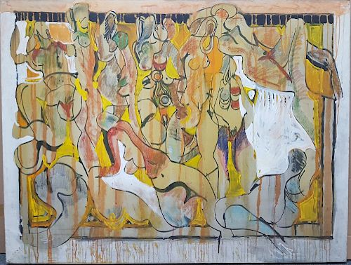 Avinash Chandra Indian Modern Abstract Oil Painting