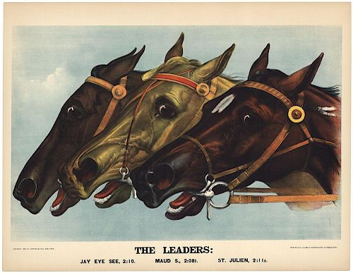The Leaders - Original Large Folio Currier & Ives Lithograph