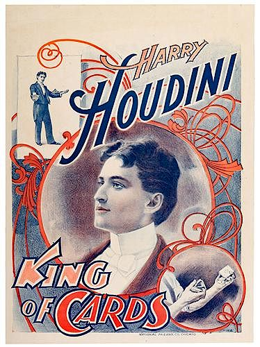 HOUDINI, HARRY (EHRICH WEISS). Houdini. King of Cards.