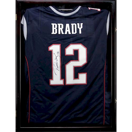 more photos c5fad b87c0 Hand Signed Tom Brady New England Patriots Jersey in Custom ...