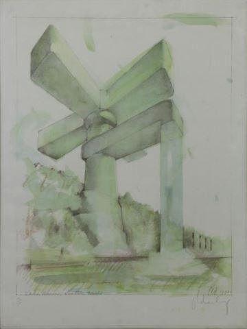 "OLDENBURG, Claes. Offset Lithograph. ""Proposal for"