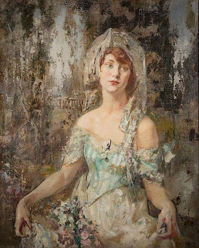 "Fred Carpenter o/c, Portrait of ""Miss K"""