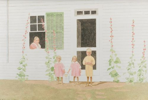 Carroll Cloar painting, The Watering Detail