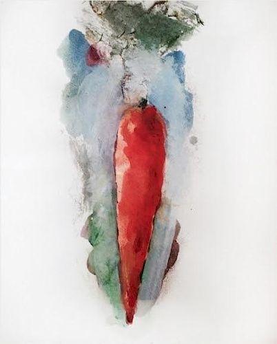 "Jim Dine Original ""Carrot"" Painting"