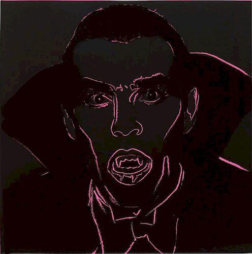 "Andy Warhol ""Dracula"" from Myths. Signed Screenprint"