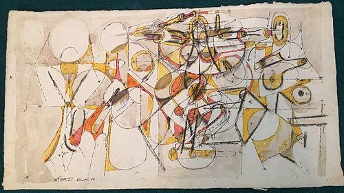 Avinash Chandra Modernist Indian Painting 1962