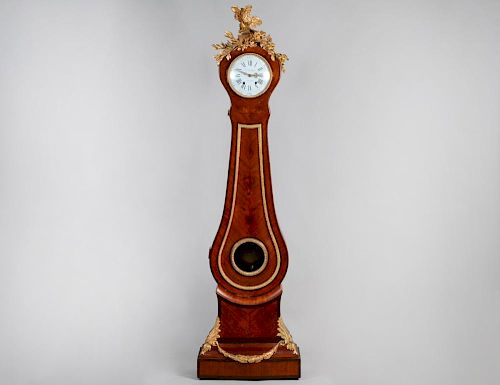 FD. BERTHOULD LOUIS XV STYLE TALL CASE CLOCK