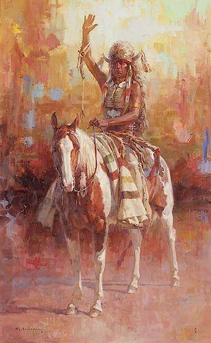 Roy Andersen b. 1930 CAA, NAWA, OPA | The Warrior's Greeting