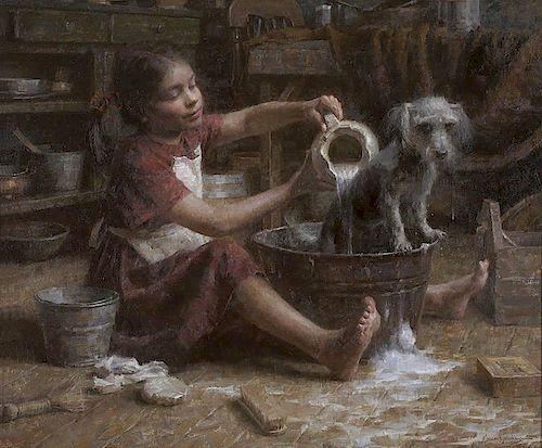 Morgan Weistling b. 1964 | Rosie's Bath