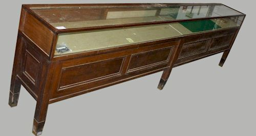 Ca 1900 12' Apothecary Store Glass Top Display Case