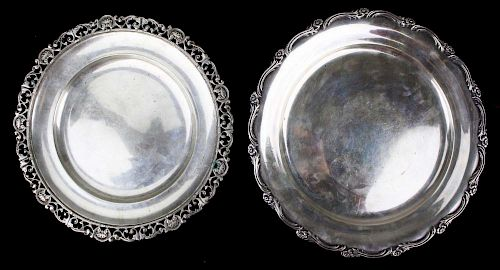 Two Sterling Platters With Arabic Marks