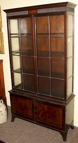 Fine Mahogany China Cabinet/Bookcase